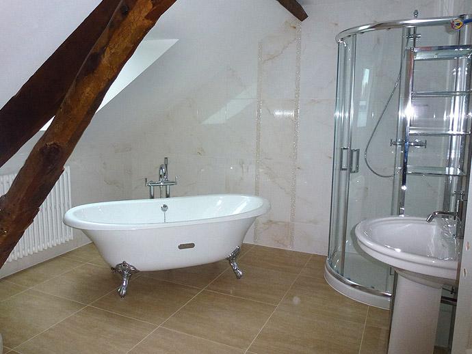 Am nagement salle de bain pornichet douche lavabo baignoire - Baignoire douche design ...